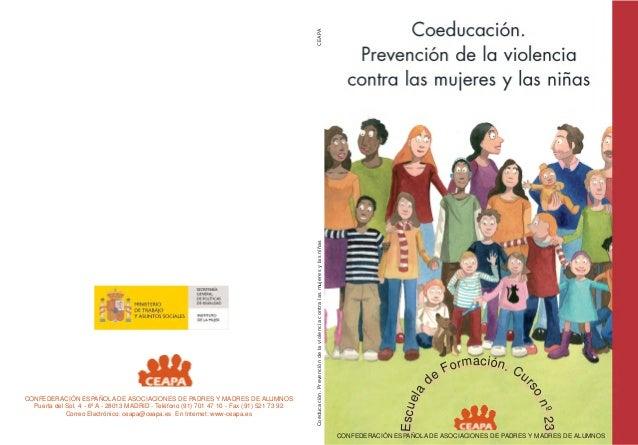Escu e Escu e lla  CEAPA  º º2 3 n 23  Coeducación. Prevención de la violencia contra las mujeres y las niñas  n s sro o  ...