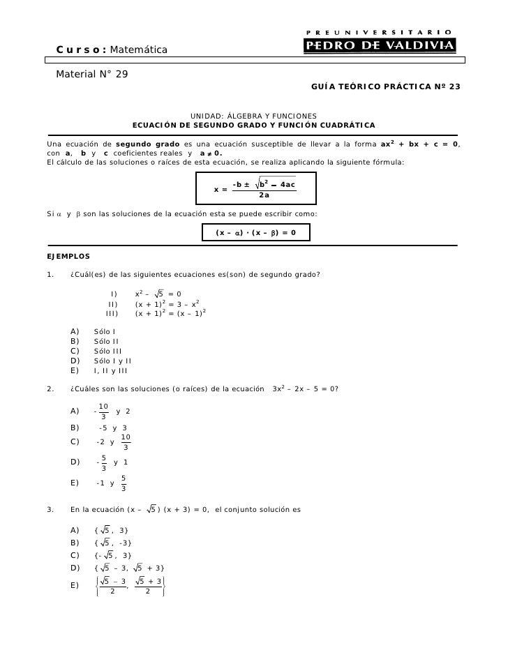 C u r s o : Matemática       Material N° 29                                                                           GUÍA...