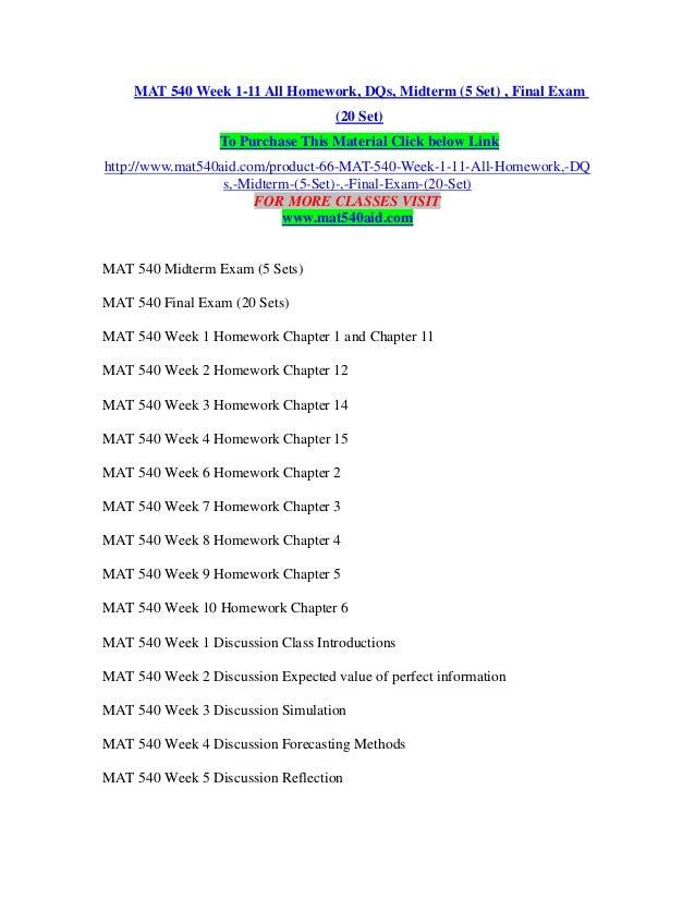 moid week 14 homework