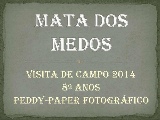 Visita de campo 2014 8º anos Peddy-paper fotográfico
