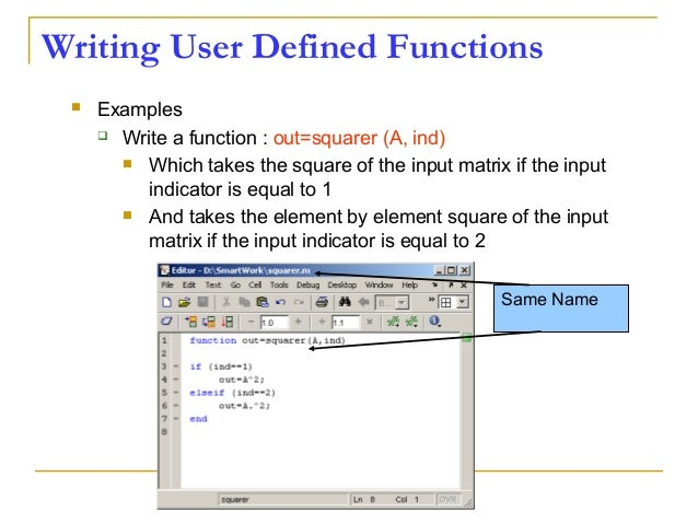 How to write a power function