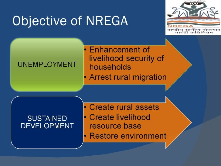 mgnregamahatma gandhi national rural employment guarantee act The national rural employment guarantee act, 2005 (nrega) guarantees 100 days of employment in a financial year to any rural household whose adult members are willing to do unskilled manual work eligibility criteria.