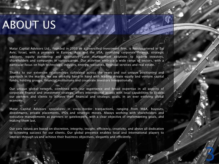 Matar Capital Advisors Corporate Brochure Slide 3