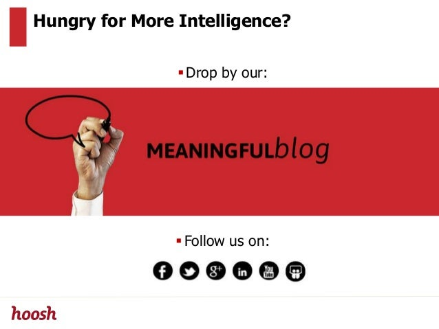Hungry for More Intelligence? Drop by our: Follow us on: