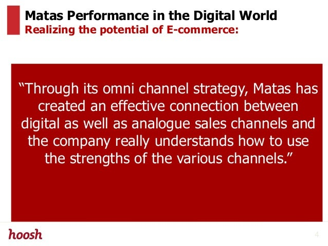 """Matas Performance in the Digital World Realizing the potential of E-commerce: """"Through its omni channel strategy, Matas ha..."""