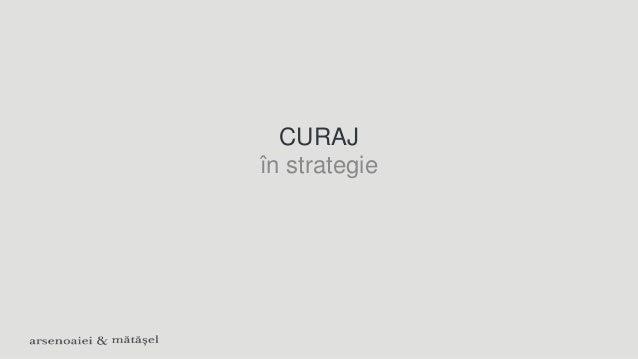 CURAJ în strategie
