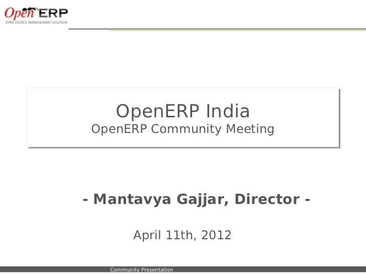 OpenERP India                        OpenERP Community Meeting                        OpenERP Community Meeting           ...