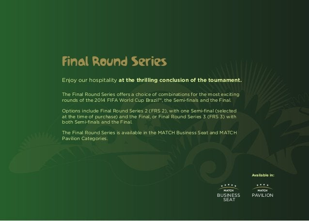 Final Round SeriesEnjoy our hospitality at the thrilling conclusion of the tournament.The Final Round Series offers a choi...