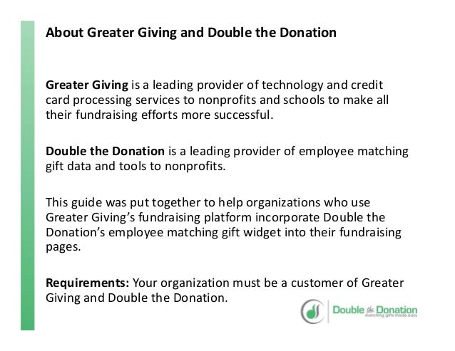 greater giving