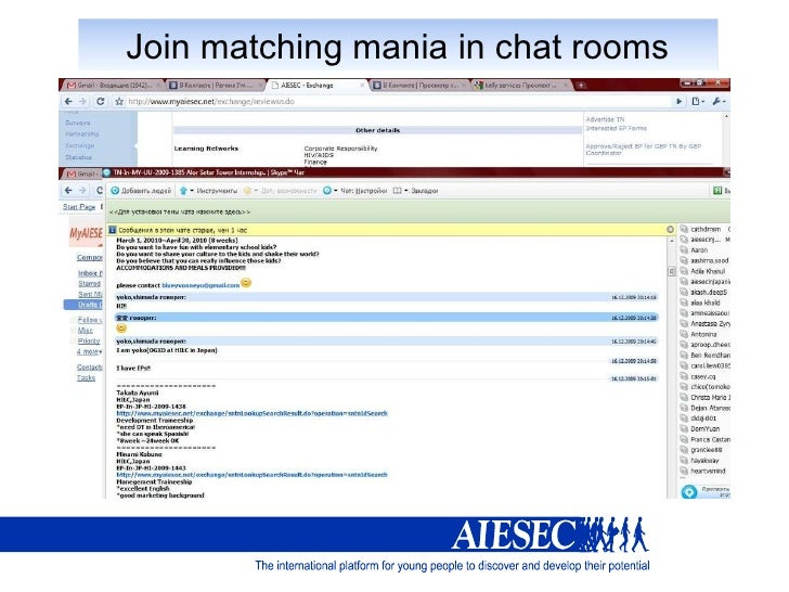 Online support chat rooms