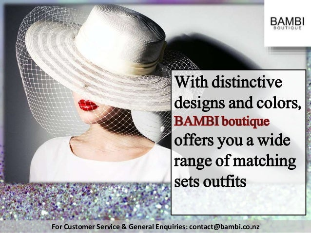 For Customer Service & General Enquiries: contact@bambi.co.nz With distinctive designs and colors, offers you a wide range...