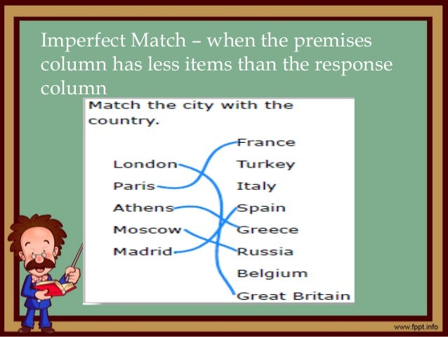 Perfect match examples