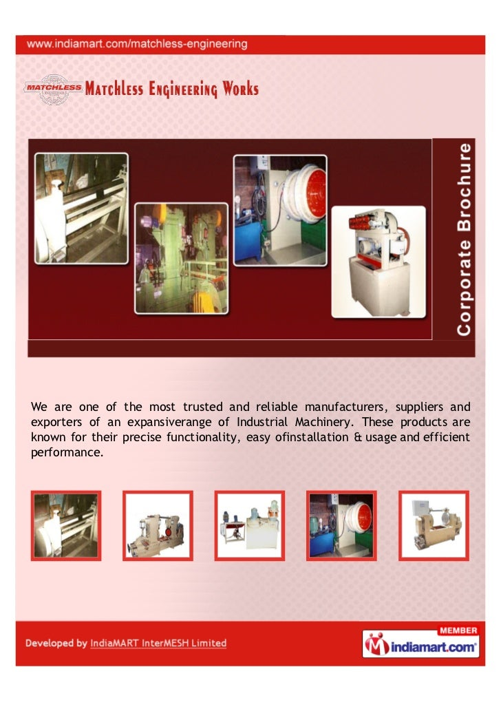 We are one of the most trusted and reliable manufacturers, suppliers andexporters of an expansiverange of Industrial Machi...