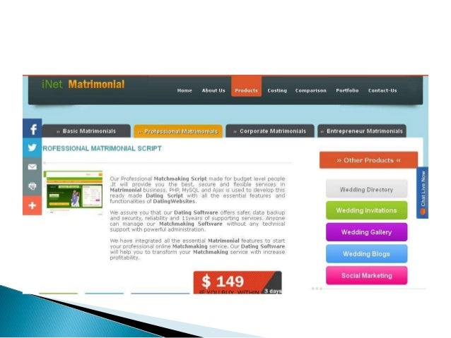 Dating matchmaking software