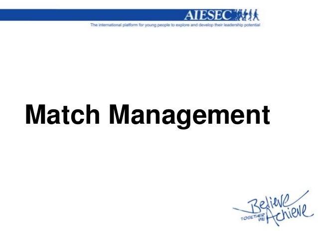 Match Management