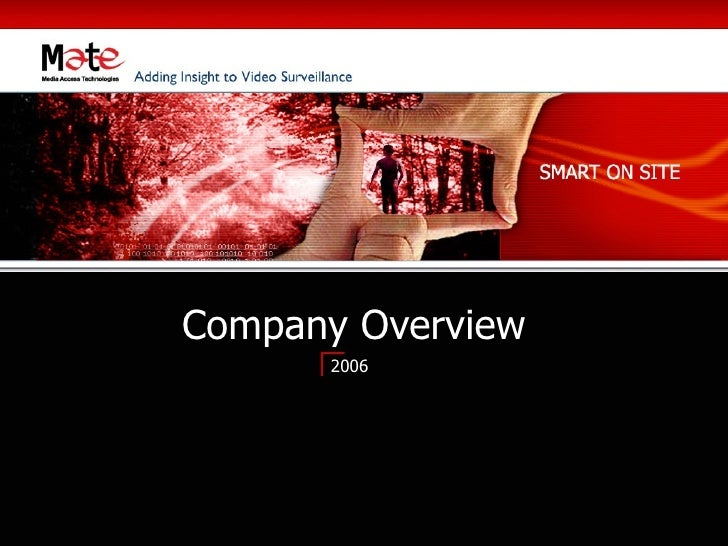 Company Overview       2006