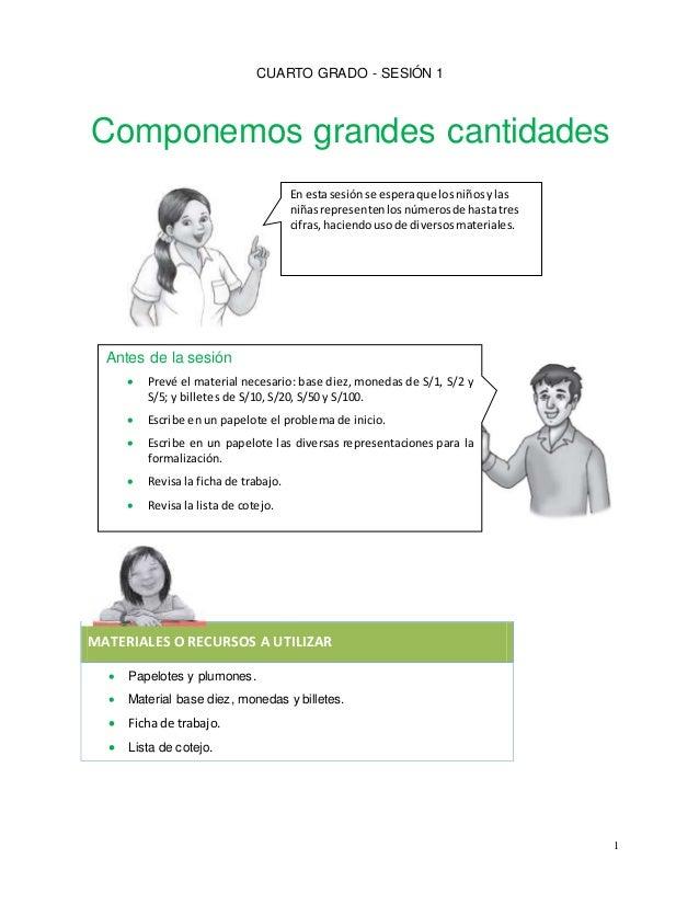 SESIÓN PARA CUARTO GRADO DE PRIMARIA