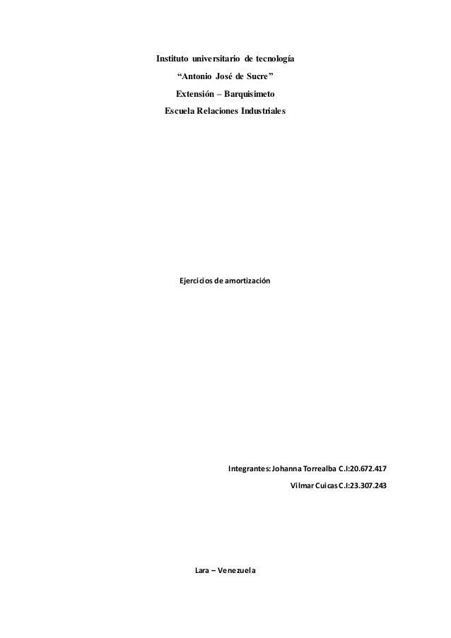 """Instituto universitario de tecnología """"Antonio José de Sucre"""" Extensión – Barquisimeto Escuela Relaciones Industriales Eje..."""