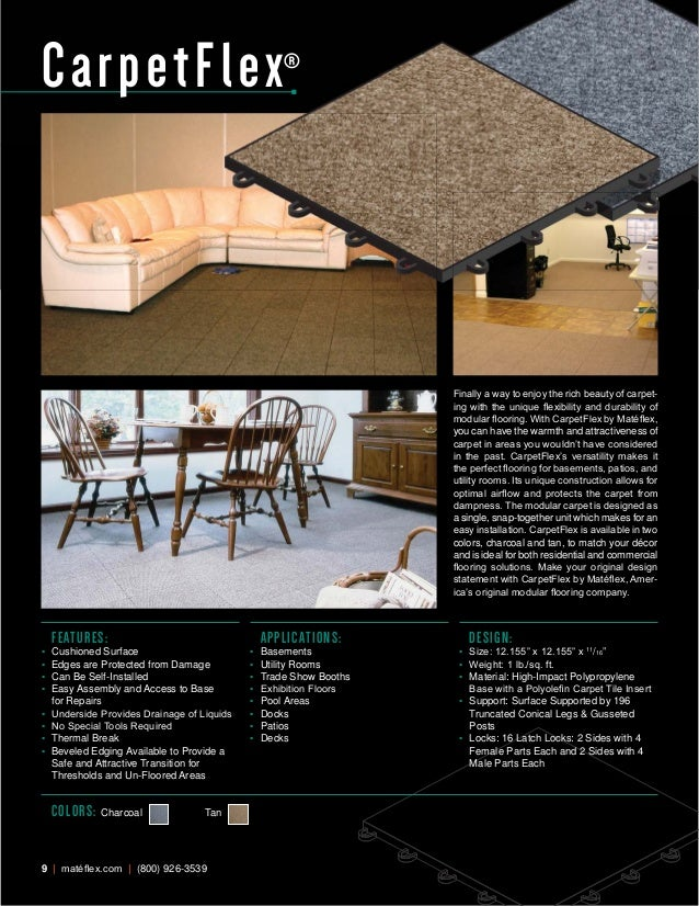 Mateflex The Original Modular Flooring Brochure - Mate flex flooring