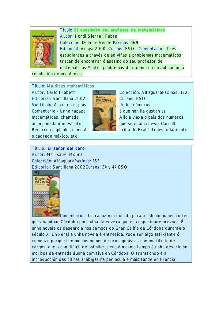 Título:El asesinato del profesor de matemáticas               Autor: Jordi Sierra i Fabra               Colección: Duende ...