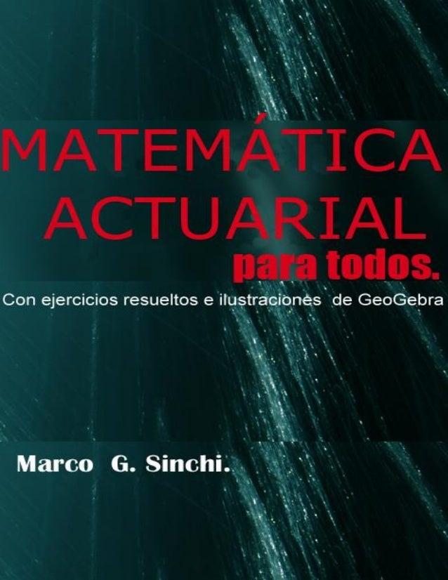 Matemática actuarial para todos