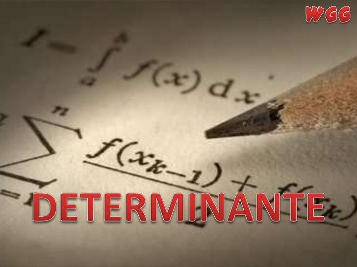 WGG<br />DETERMINANTE<br />