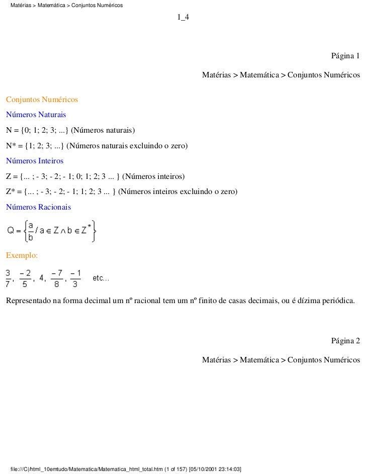 Matérias > Matemática > Conjuntos Numéricos                                                                    1_4        ...