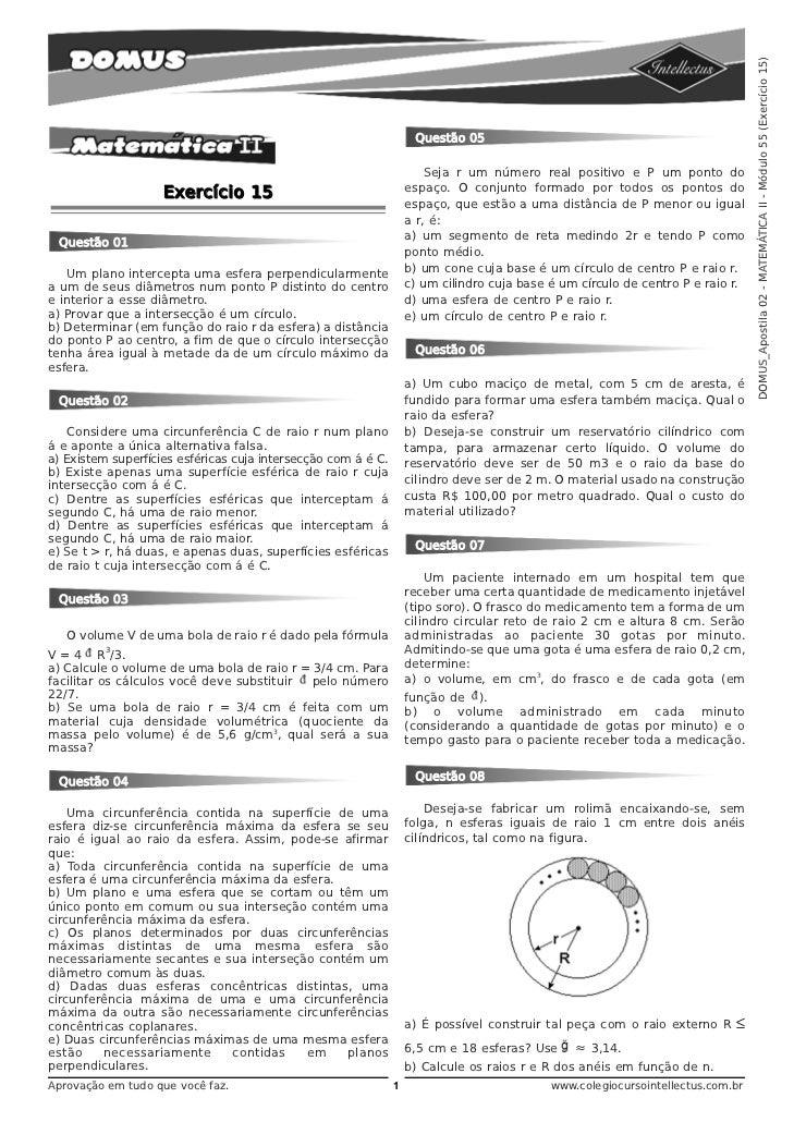 DOMUS_Apostila 02 - MATEMÁTICA II - Módulo 55 (Exercício 15)                                                              ...