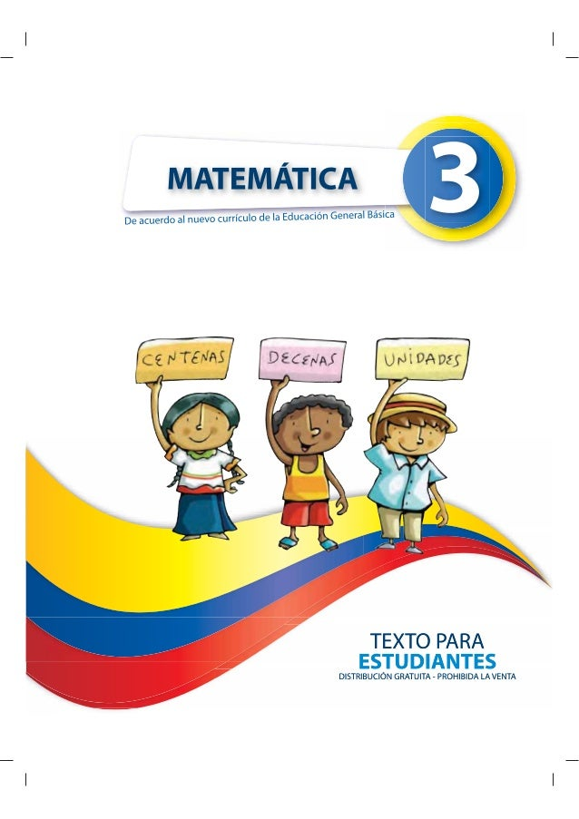 Texto de Matemática de Tercer año de EGB