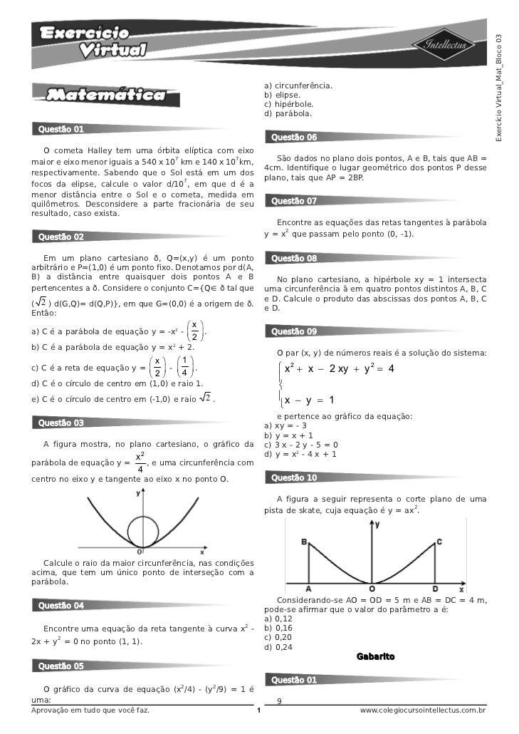 Exercício Virtual_Mat_Bloco 03                                                               a) circunferência.           ...