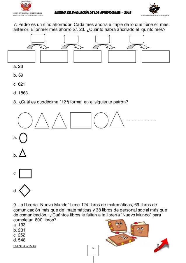 examenes de matematicas para sexto grado in Esperance