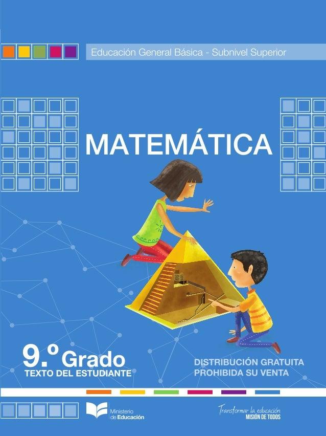 Matemática 9 año EGB