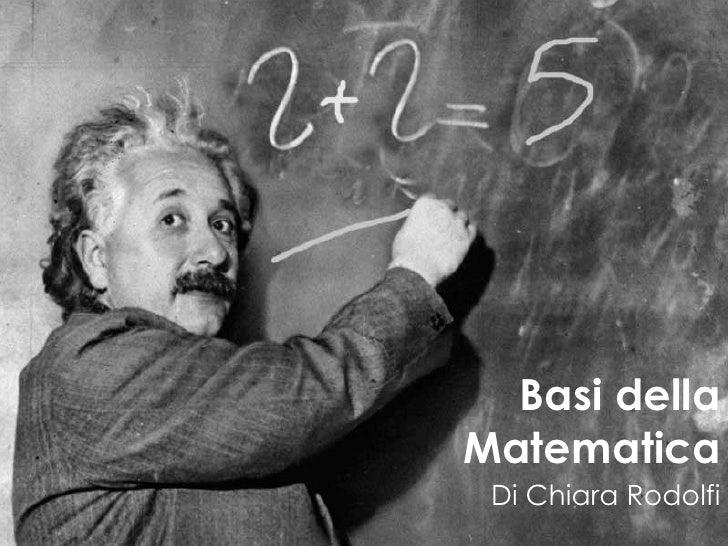 Basi dellaMatematica Di Chiara Rodolfi
