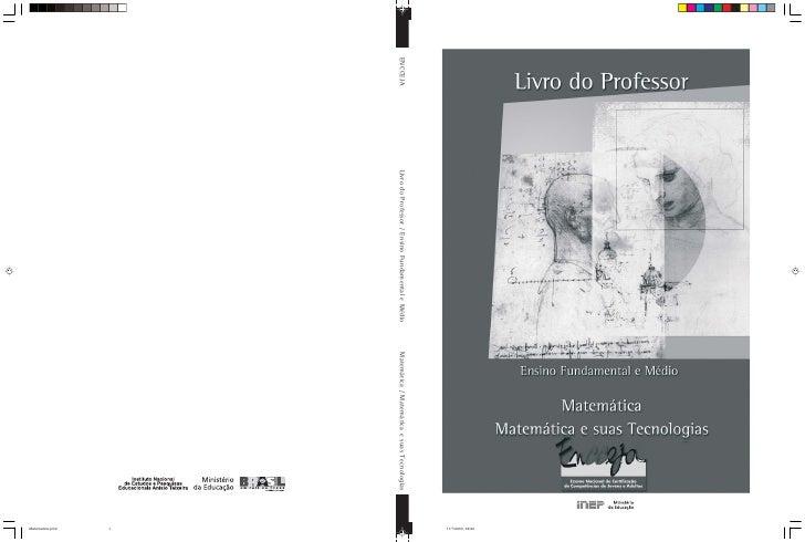 11/7/2003, 09:20 ENCCEJA   Livro do Professor / Ensino Fundamental e Médio   Matemática / Matemática e suas Tecnologias   ...