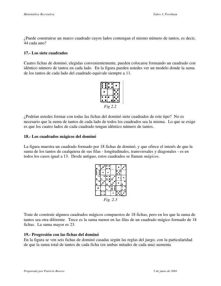 Matemática Recreativa                                                       Yakov I. Perelman     ¿Puede construirse un ma...