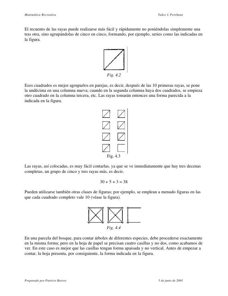 Matemática Recreativa                                                     Yakov I. Perelman    El recuento de las rayas pu...
