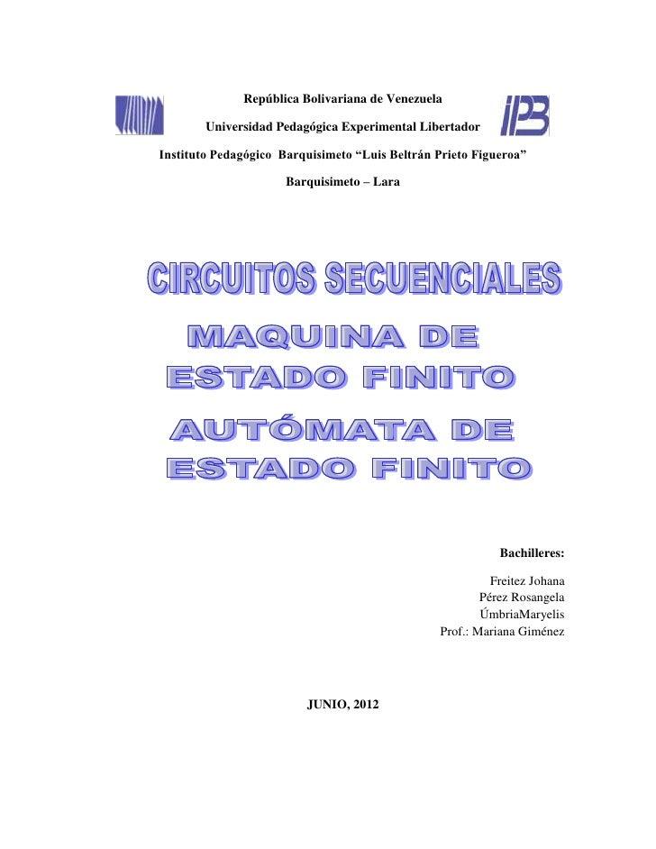 República Bolivariana de Venezuela        Universidad Pedagógica Experimental LibertadorInstituto Pedagógico Barquisimeto ...