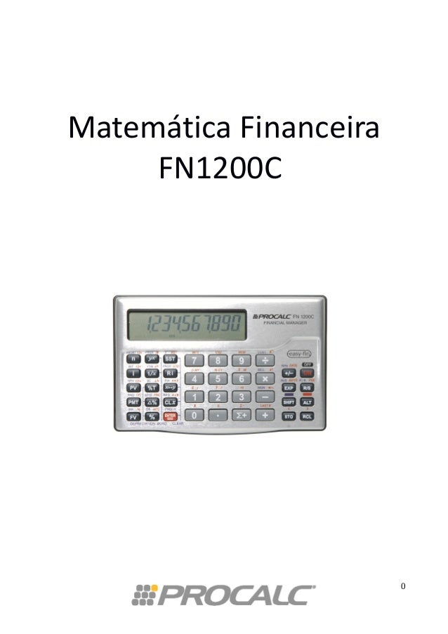 Matemática Financeira FN1200C 0