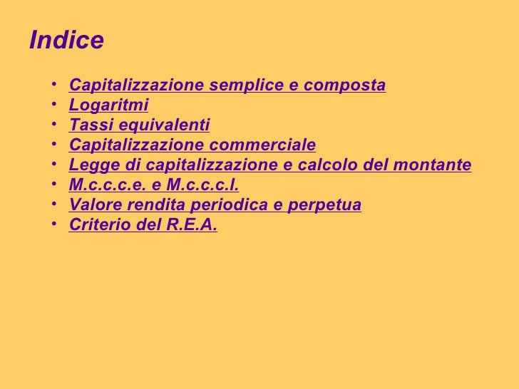 Matematica finanziaria Slide 2