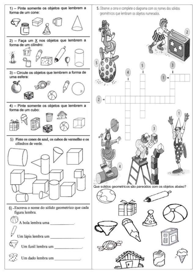Que solidos geometricos são parecidos com os objetos abaixo?