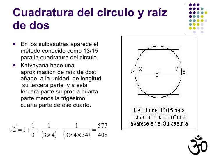 Resultado de imagen para CUADRATURA DEL CIRCULO RAIZ DE PI