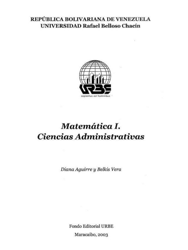 Matematica i ciencias administrativas