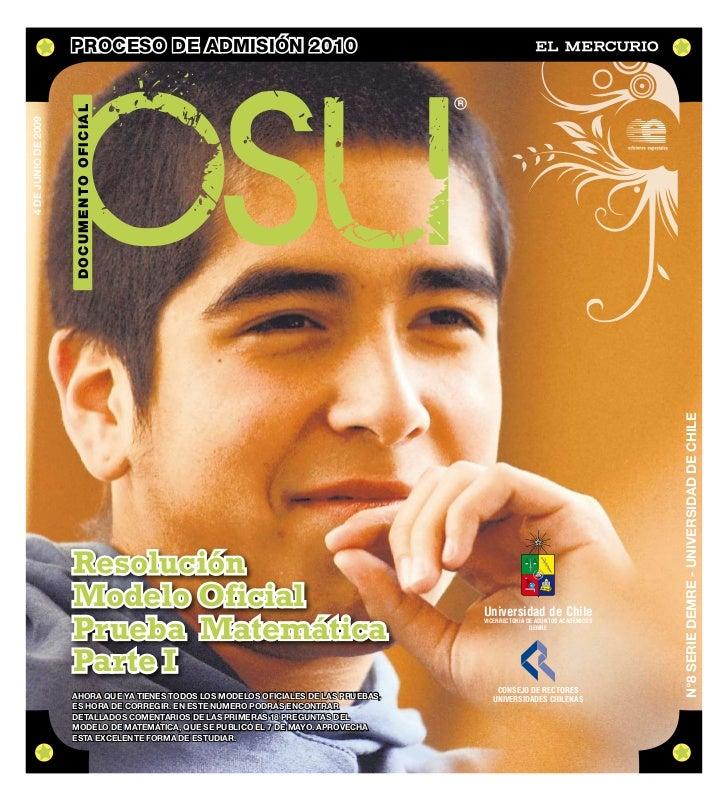 PROCESO DE ADMISIÓN 2010                     Documento Oficial4 de Junio de 2009                                          ...