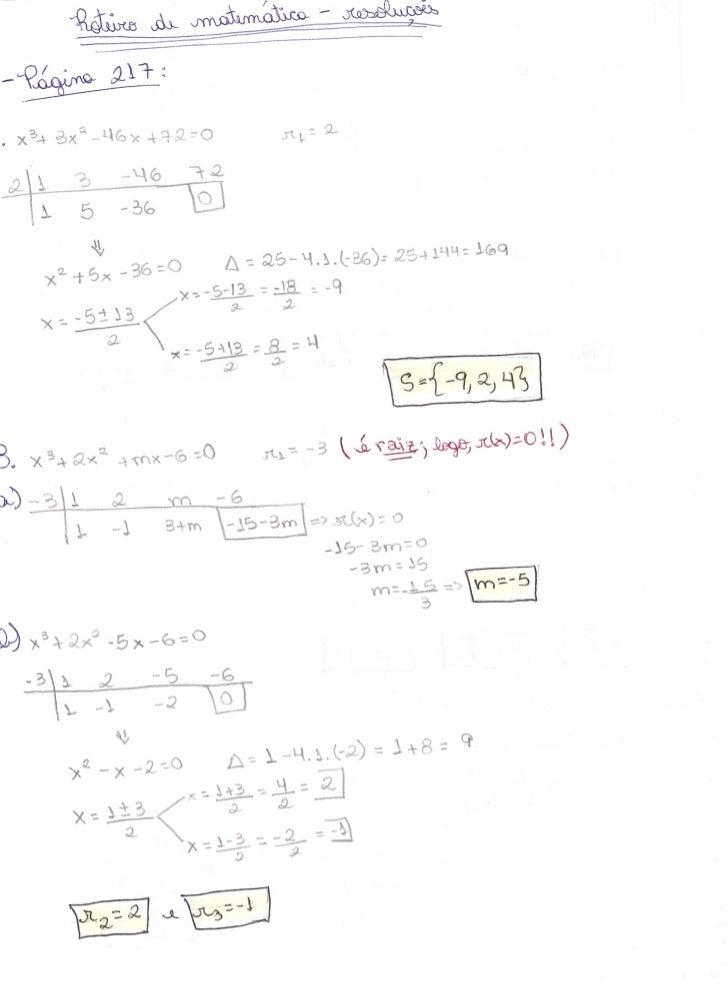 Roteiro de matemática - PU do 4º Bimestre de 2011