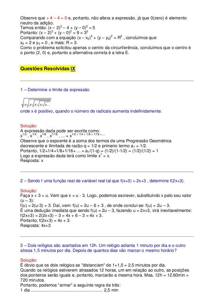 Determine + a 2 1 frações soma 3 4 das 01.