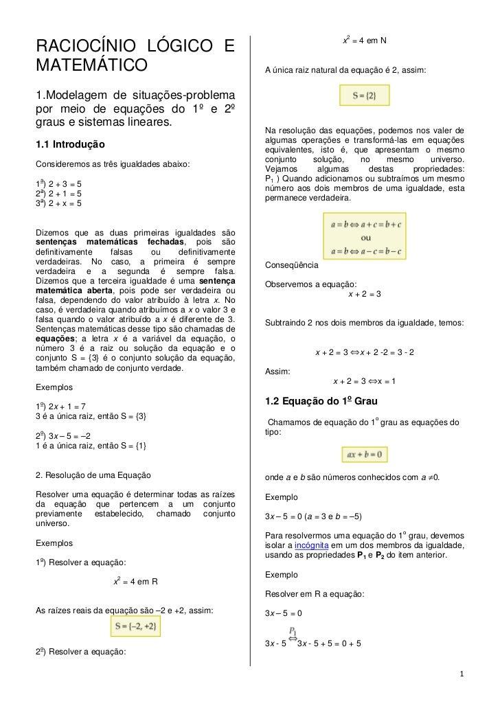 2                                                                            x = 4 em NRACIOCÍNIO LÓGICO EMATEMÁTICO      ...