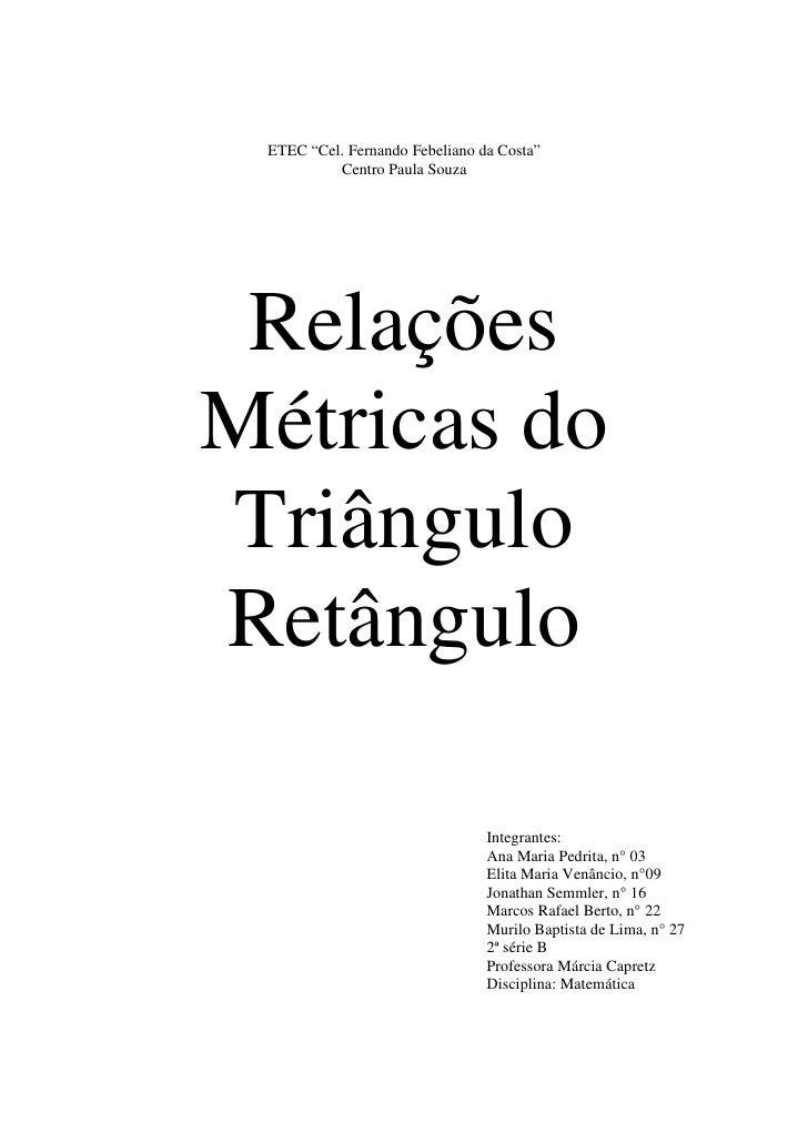Matematica rm triangulo retangulo