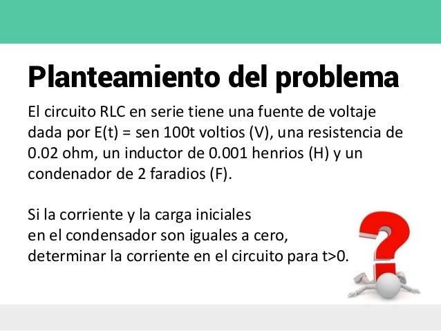 Circuito Rlc Ecuaciones Diferenciales : Ecuaciones diferenciales