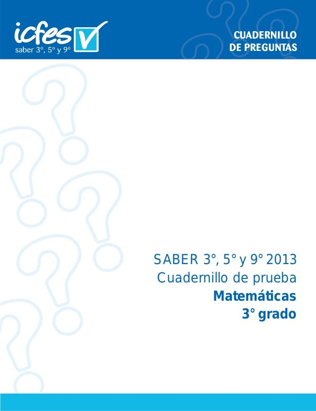 Prueba Saber Matematicas 2013- 3° ICFES