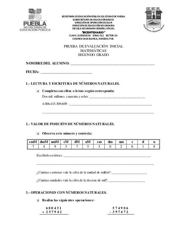 SECRETARÍA DE EDUCACIÓN PÚBLICA DEL ESTADO DE PUEBLA  SUBSECRETARÍA DE EDUCACIÓN BÁSICA  DIRECCIÓN DE OPERACIÓN ESCOLAR  D...